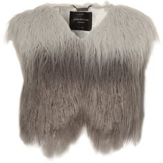 Jane Norman Faux Fur Gilet found on Polyvore