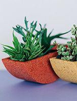 pillows + decor Rock Planters, Hanging Planters, Planter Pots, Indoor Planters, Indoor Outdoor, Outdoor Living, Hand Cast, It Cast, Footer Design