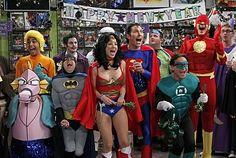 "Los Superheroes  de ""The Big Bang Theory"""