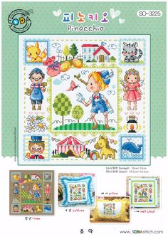 cross stitch pattern: click images to scroll. pinicchio