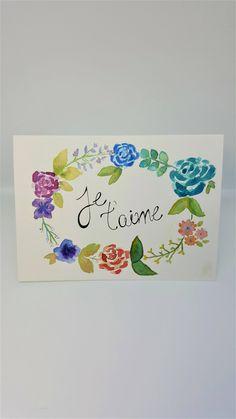 Voici ce que je viens d'ajouter dans ma boutique #etsy : Carte aquarelle fleur Saint-Valentin / Amour http://etsy.me/2DchGEU #papeterie #carte #aquarelle #fleur #saintvalentin #card #amour #aime #valentines
