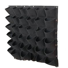 36 Pockets Vertical Wall Planter, Wall Hanging Garden Fence Planters Plant Grow Bag for Herbs Vegetables and Flowers Pockets(Black))