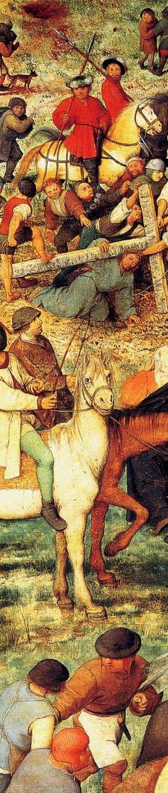 1564 Pieter Bruegel the Elder - The Procession to Calvary, Detail Christ knelt