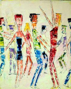 """Saatchi Art Artist Reuven Dattner; Painting, """"dancing"""" #art"""