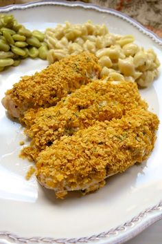Baked Crack Dip Chicken Tenders | Plain Chicken - I used 4 whole chicken breasts & sour cream instead of yogurt.  Served with broccoli & mashed potato patties & got a high 5 from the hubby.