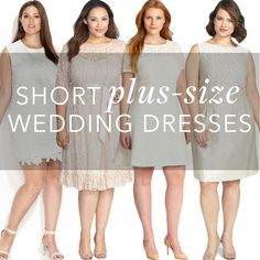 Brides.com: 21 Stylish, Short Plus-Size Wedding Dresses. From engagement parties to bridal showers, rehearsal dinners, reception quick-changes and even your after party, there are plenty of reasons why you should rock a little white dress (LWD) for your wedding events and beyond. But it's important to find a LWD that will not only suit your wedding needs, but also profess your personal style and flatter your body — and we're here to help.  For brides-to-be with real-girl curves, we're ...