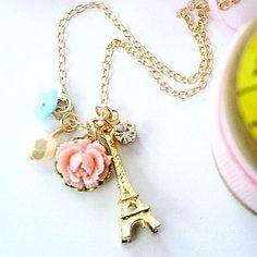 Paris 14K Gold Filled Charm Necklace