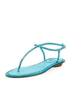 87f34342f0f723 Crystal Flat Thong Sandal