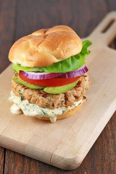 Salmon Burgers with Dil Sauce