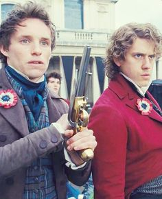 "Marius is like ""I'm scared"" and Enjorlas is like ""Lets kick French butt."" Haha"