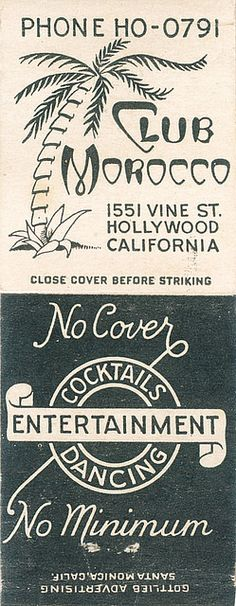 Club Morocco, Hollywood by jericl cat, via Flickr