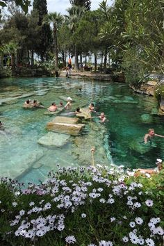 Thermal spa of Hierapolis in Denizli province, southwestern Turkey. Fifteen sites in Turkey now on UNESCO World Heritage List