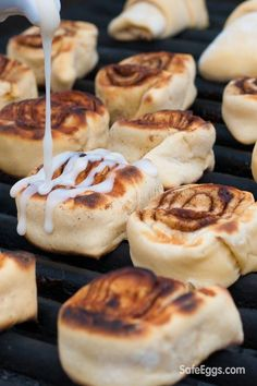 These grilled cinnamon rolls are the perfect dessert for summer cookouts or camping.