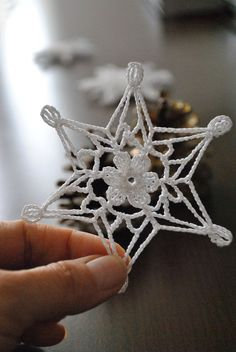 American School of Needlework Crocheted Snowflakes 16 patterns Book EUC - Her Crochet Crochet Snowflake Pattern, Crochet Motifs, Crochet Snowflakes, Thread Crochet, Crochet Doilies, Crochet Flowers, Christmas Crochet Blanket, Crochet Christmas Ornaments, Christmas Crochet Patterns
