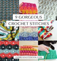 9 gorgeous crochet stitches