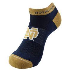 Youth Notre Dame Fighting Irish Spirit No-Show Socks, Kids Unisex, Size: 7-9, Blue (Navy)
