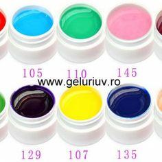 ----- NUANTE NOI DE GELURI !!!!!!  ---SUPER OFERTA!!! --- Geluri GIGAPIGMENT - 10 LEI GELURI COLOR UV/LED - 12 LEI GELURI CAMELEON TEMPERATURA 20 LEI  COMANZI PE --- www.geluriuv.ro MODALITATI DE COMANDA: - COMENZI TELEFONICE 0742923026 / 0747199035 - COMENZI PE www.geluriuv.ro - MAGAZINUL NOSTRU ONLINE. - VA ROG SA IMI LASATI UN MESAJ CU NUMARUL NUANTELOR DE GEL SAU PRODUS PE CARE DORITI SA IL COMANDATI IMPREUNA CU DATELE DUMNEAVOASTRA COMPLETE (NUME, ADRESA COMPLETA SI TELEFON).