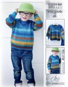 Euro Baby Maypole DK Boy's V-Neck Sweater Pattern