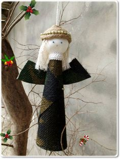 Handmade Christmas Ornament  MY HERO'S ANGEL by FourArtistHearts, $12.99   This is so special and unique. Honor the soldier in your family.