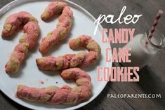 Candy Cane Cookies at PaleoParents.com