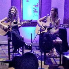 The talented duo Megan Tibbits and Megan McCallister from our #RLifeLIVE event last week! Join us every Friday for live local musicians. #LA #music