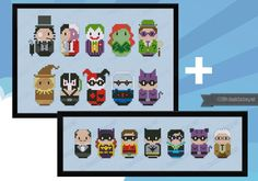 Batman Bundle - Batman + Enemies - Save $1 - Mini People - Cross Stitch Patterns - Products