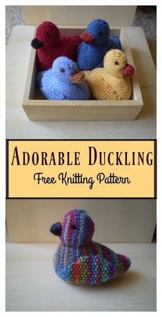Adorable Duckling Free Knitting Pattern