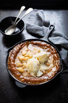 Malva Pudding mit Ingwer & Birnen pochiert in Rooibos Tee Rezept | Nieselregen und Dip