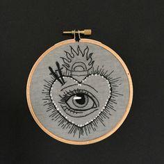 Een persoonlijke favoriet uit mijn Etsy shop https://www.etsy.com/listing/260964770/embroidery-hoop-sacred-heart-with-all