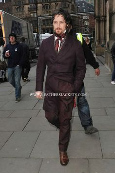 James McAvoy on the Victor Frankenstein set in a trenchcoat  Embedded image permalink