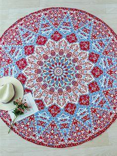 Geometric Print Boho Round Beach Blanket