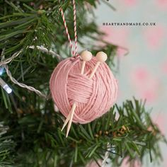 Ball Of Yarn Christmas ornament I created this little Christmas ornament back in 2013 for a free craft magazine I created with some other crafters. The project is super simple. For magazine & supply list link check #linkinprofile  You will need: -1 small polystyrene ball -tacky glue -yarn scraps -two toothpicks -two small beads for the top -bakers twine or string to hang  The two small toothpicks act as little knitting needles.  How to:  1. Use a tiny dab of tacky glue to attach the end of a…