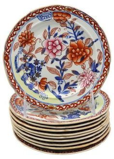 1820's Mason's Ironstone Plates, S/10 - Dinnerware - Tabletop & Serveware - Decor | One Kings Lane