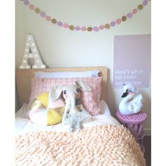 Girls room- bed from ply room! Love it. Girls room inspo.