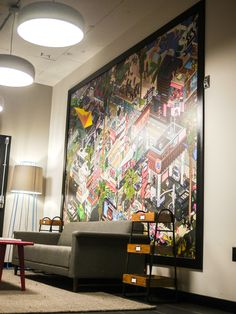 A beautiful painting found in the #WeWork #Hollywood 4th Floor Lobby.