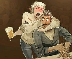 Modern drunk Sera and Dorian. Beautiful.