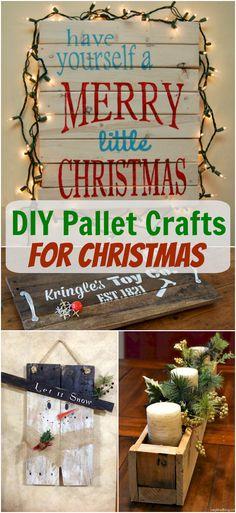Pallets are so versatile for crafting Christmas decor! Turn a pallet or some leftover wood scraps into adorable holiday decorations that are fast and easy to DIY.