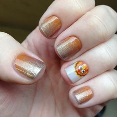 Pumpkin Spice and Gobble Me Up Jamberry nail wraps - Thanksgiving fingernail patterns and colors