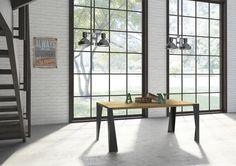 Tavolo da pranzo Enea. Tavolo in ferro e legno. Il nuovo tavolo dalle linee semplici, moderne e lineari è pronto per entrare nella vostra casa.