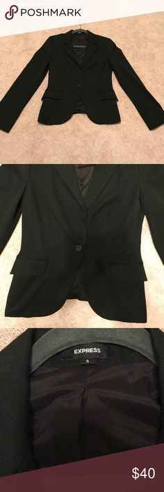 Express black blazer Like New!! Mint condition black tailored blazer with side pockets. Perfect for an interview, date night or formal event! Express Jackets & Coats Blazers