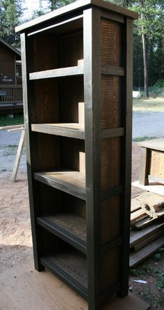 OMG I dont just want this, i need this book case! Reclaimed Rustic Bookcase. $380.00, via Etsy.