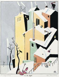 Saint-Nicolas / Sinterklaas, illustration by Ever Meulen, 1996.