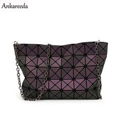 ad0e06a8aa7a Handbags New 2016 Women Fashion Noctilucent Bao Bao Bag Geometry Package  Folding Bags Crossbody Bag Women Famous Brand Messenger Bags   AliExpress  ...