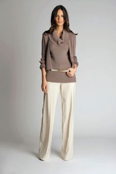 Great work outfit for me! Fitted, but not tight. Hides a multitude of sins. I would add a pop of color with accessories.