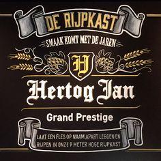 Le Grand Café, Arnhem – Bold Statements Chalkboard Custom Handlettering - Hertog Jan Grand Prestige logo