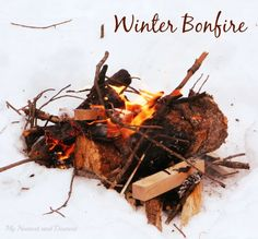 How to make a winter bonfire. Such a fun way to spend any afternoon with family and friends!