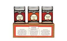 Spicewalla Holiday Spice Set 3 Pack | Pumpkin Pie Spice, Apple Pie Spice, Mulling Spices | Non-GMO, No MSG Apple Pie Spice, Pumpkin Spice Latte, Spice Set, Spice Mixes, Mulling Spices, Beautiful Soup, Homemade Bbq, Best Pumpkin, Spiced Apples