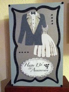 "Anniversary Card using ""Formal Occasion"" Cricut cartridge"
