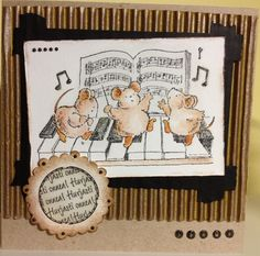 Congratulations card for men. Stamp: Penny Black. / Onnittelukortti miehelle.