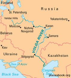 Volga River Map Volga River Map from St. Peterbourg to Moscow , Russia | Ancestry  Volga River Map
